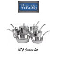 Viking Contemporary Stainless Steel 3-Ply Mirror 10 PC Cookware Set