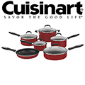Cuisinart Advantage Non-Stick 11-piece Cookware Collection-Available In Red