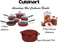 Cuisinart Advantage Red Cookware Bundle With 11 PC Cookware, Casserole Dish & 3PC Vacuum Containers
