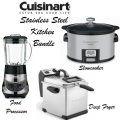 Cuisinart Stainless Steel Kitchen Bundle, Includes Deep Fryer, Food Processor & Slow Cooker