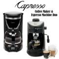 Capresso 4-Cup Espresso/Cappuccino Maker & 12-Cup Drip Coffee Maker Bundle