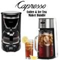 Capresso Ice Tea Maker & 12-Cup Drip Coffee Maker Bundle