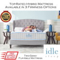 """IDLE 13"""" Queen Hybrid Mattress w/Supportive Coils+Pressure Relieving Foam�Available in 3 Choices"""