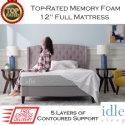 "The Idle 12"" Memory Foam Full Mattress with Adaptive Gel-Fused Layers In Medium Firmness"