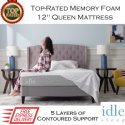 "The Idle 12"" Memory Foam Queen Mattress with Adaptive Gel-Fused Layers In Medium Firmness"