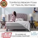 "The Idle 12"" Memory Foam Twin XL Mattress with Adaptive Gel-Fused Layers In Medium Firmness"