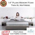 "Idle 14"" Plush Memory Gel Foam Twin XL Mattress with Ice Fabric�️ Cover in Medium Soft"
