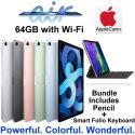 "Apple 10.9"" iPad Air 64GB with Wifi Bundled W/Apple Pencil, Smart Folio Keyboard & AppleCare+"
