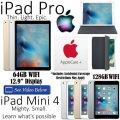 Apple 32GB iPadPro 12.9� & 128GB Mini 4 Both W/WiFi + Smart Keyboard, Mini Case & AppleCare+ For Bot