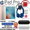 NEW Apple/Beats 3PC Bdl w/ NEW 32GB iPadPro 9.7�, Beats By Dr. Dre Pill+ & Beats Solo2 HD Headphones