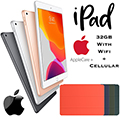 "Apple 10.2"" iPad 32GB with Wifi+Cellular Bundled W/Your Choice of SmartCover & AppleCare+ Protection"