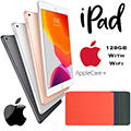 "Apple 10.2"" iPad 128GB with Wifi Bundled W/Your Choice of Smart Cover & AppleCare+ Protection Plan"