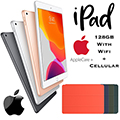 "Apple 10.2"" iPad 128GB with Wifi+Cellular Bundled W/Choice of Smart Cover & AppleCare+ Protection"