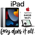 Apple 64GB iPad With WiFi (Latest Model) Bundled With Pencil, Keyboard & AppleCare+ Protection Plan
