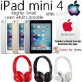 Apple & Dr.Dre Gift Bundle; 16GB iPad Mini 4 W/WiFi, AppleCare+ Protection Plan & Dr.Dre Headphones
