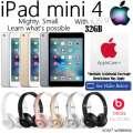 Apple & Dr.Dre Gift Bundle; 32GB iPad Mini 4 W/WiFi, AppleCare+ Protection Plan & Dr.Dre Headphones