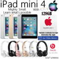 Apple & Dr.Dre Gift Bundle; 128GB iPad Mini 4 W/WiFi, AppleCare+ Protection Plan & Dr.Dre Headphones