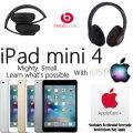 Apple & Dr. Dre Bdl W/Apple 64GB iPad Mini 4 W/WiFi, AppleCare+ Protection Plan & Dr.Dre Headphones