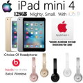 Apple & Dr. Dre Bdl W/Apple 128GB iPad Mini 4 W/WiFi, AppleCare+ Protection Plan & Dr.Dre Headphones
