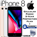 Apple 256GB iPhone 8 *UNLOCKED* W/Cellular Phone 2-Year Protection Plan + Accidental Damage Coverage