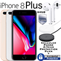 Apple 64GB iPhone 8Plus *UNLOCKED* W/ Cell-2YR Protection Plan, Airpods & Wireless Charging Pad
