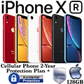 Apple 128GB iPhone XR *UNLOCKED* W/Cellular Phone 2Yr Protection Plan+Accidental Damage Coverage