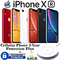 Apple 64GB iPhone XR *UNLOCKED* & 2Yr Protection Plan+Accidental Damage Bundled W/Wireless ChargePad