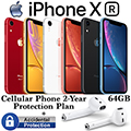 Apple 64GB iPhone XR *UNLOCKED* & 2Yr Protection Plan + Accidental Damage Bundled With Apple AirPods