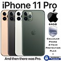 Apple 64GB iPhone 11 Pro *UNLOCKED* w/Cellular Phone 2Yr Protection Plan+Accidental Damage Coverage