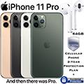 Apple 64GB iPhone 11 Pro *UNLOCKED* & 2Yr Plan+Accidental Bundled W/AirPods & Wireless Charging Case