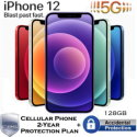 Apple 128GB iPhone 12 *UNLOCKED* w/Cellular Phone 2Yr Protection Plan+Accidental Damage Coverage