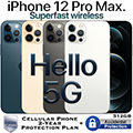 Apple 512GB iPhone 12ProMax *UNLOCKED*w/Cellular Phone 2Yr ProtectionPlan+Accidental Damage Coverage