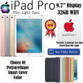 NEW Apple 32GB iPad Pro 9.7� With WiFi Plus Choice Of Smart Cover Color & AppleCare+ Protection Plan