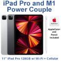 "Apple 11"" iPad Pro (Latest Model) 128GB with Wi-Fi + Cellular Bundled with Pencil & AppleCare+"