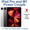 "Apple 11"" iPad Pro (Latest Model) 1TB with Wi-Fi + Cellular Bundled with Pencil & AppleCare+"