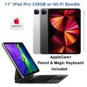 "Apple 11"" iPad Pro (Latest Model) 128GB with Wi-Fi Bundled with Pencil, Keyboard, & AppleCare+"
