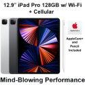 "Apple 12.9"" iPad Pro (Latest Model) 128GB with Wi-Fi + Cellular Bundled with Pencil & AppleCare+"