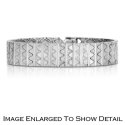 Women's Sterling Silver 9MM Wide Bracelet with .50TCW Diamonds
