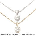 Women's 14K Gold 18-Inch Cable Chain Necklace with .15CT Diamond Solitaire Pendant