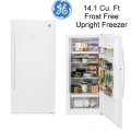 GE 14.1 Cu. Ft. Frost Free Upright Freezer-Available In White