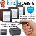 Amazon Kindle Oasis EReader W/Lthr Charging Cvr, Screen Protector, Charger & 3Yr Protection+Accident