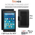 "Incredibly Thin & Lightweight Kindle 8GB Fire HD 8 8"" Tablet With 5thGen Case & 2Yr Protection Plan"