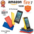 "New Amazon Kindle Fire 7, 7"" Tablet Featuring Alexa, With Screen Protector, Cover & 2 YR Warranty"