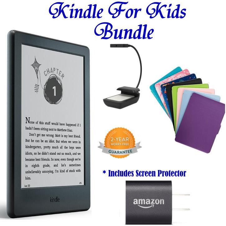 Kindle For Kids Bdl W/E-Reader, Case, Light, Anti-Glare Screen