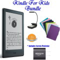 Kindle For Kids Bdl W/E-Reader, Case, Light, Anti-Glare Screen Protector, Charger & 2-Year Guarantee