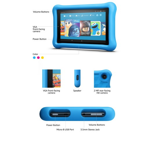 Kindle Kid's Bundle W/E-Reader, Screen Protector, 32GB SD Card