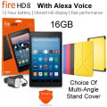 All-New 16GB Kindle Fire HD 8� Tablet with Alexa Hands-Free Control, Cover & 2 YR Protection Plan