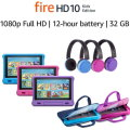 Fire HD 10 Kids Edition Tablet 10.1� 1080p 32 GB,  Kid-Proof Case, Headphones & Sleeve
