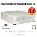 "Kingsdown Vintage Synchrony 13"" Twin Innerspring Plush Luxury Mattress Set"