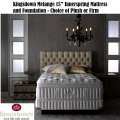 "Kingsdown Vintage Collection Full Melange 15"" Innerspring Firm or  Plush Mattress Set"
